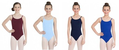 capezio cc100c childrens classic leotard with fully adjustable straps color swatch