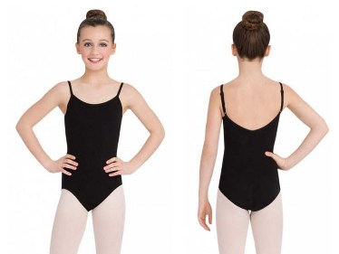 capezio cc100c childrens classic leotard with fully adjustable straps front back