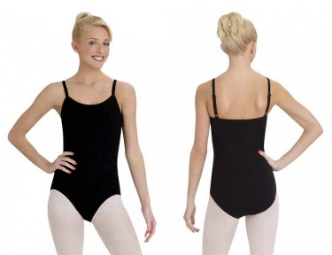 capezio cc110 camisole leotard with bratek front back
