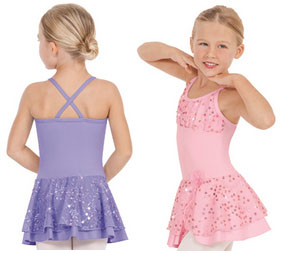 eurotard 05456 skirted camisole leotard child color swatch
