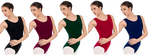 eurotard 1002 adult cotton classic tank leotard color swatch 1