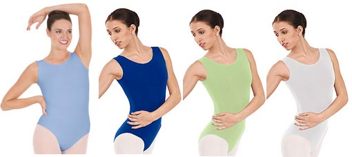 eurotard 1002 adult cotton classic tank leotard color swatch 2