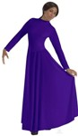 eurotard 13847 high neck liturgical dress with zipper back color swatch