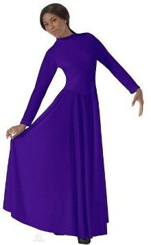 eurotard 13847 high neck liturgical dress with zipper back