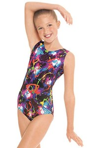 eurotard 7589 child metallic graffiti gymnastics tank leotard