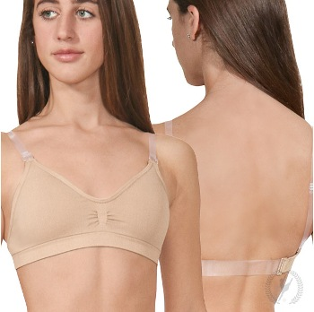 eurotard 95624 seamless padded wide band bra