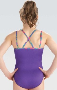 gk elite e3748 purple magic gymnastics leotard center back