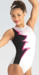 gk elite e3761 berry spark gymnastics leotard color swatch