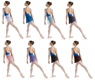 bloch georgette skirt colors