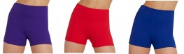 capezio tb131c team basics childrens high waisted shorts color swatch 1