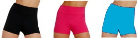 capezio tb131c team basics childrens high waisted shorts color swatch 2