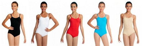 capezio tb1420 team basics adult camisole leotard with adjustable straps color swatch 1