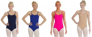 capezio tb1420 team basics adult camisole leotard with adjustable straps color swatch 3