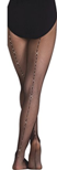 bw-a64 body wrappers total stretch rhinestone backseam fishnet tights