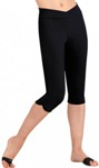 capezio tb217w team basics adult knee capri