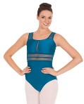eurotard 59899 striped mesh tank leotard
