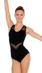 eurotard 59898 arrow mesh tank leotard
