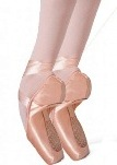 capezio 1129w cambre tapered toe # 4 shank pointe shoe