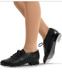 capezio 443 tic tap toe lace up tap shoe