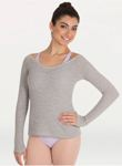 body wrappers 7392 adult v-neck long sleeve sweater