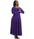 body wrappers 512 long sleeve dance dress