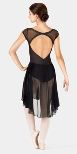 body wrappers k260 adult open back dance dress
