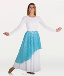body wrappers 627 asymmetrical lace praise skirt