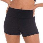 eurotard 44336 tactel microfiber flat band shorts