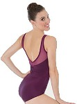 body wrappers p1001 adult power mesh yokes leotard