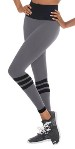eurotard 34952 women's striped contour leggings
