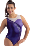 gk elite 3713 purple empress gymnastics practice leotard
