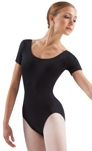 leos ld003lm adult short sleeve leotard