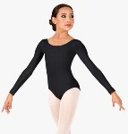bloch cl5609 childs essential basic long sleeve leotard leotard
