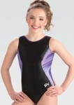 gk elite 3834 imperial black gymnastics tank leotard