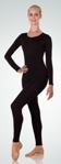 body wrappers mt0274 adult microfiber long sleeve unitard