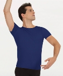 body wrappers m400 mens dancewear short sleeve snug fit pullover