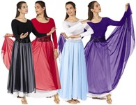 eurotard 39746 chiffon single overlay skirt