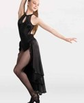 body wrappers 8405 dance dress with halter binding neckline