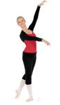 eurotard 72518 long sleeve shrug,dance shrug,ballet shrug