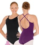 eurotard 44819 adult adjustable microfiber camisole leotard