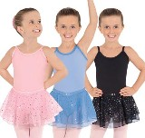eurotard 0205 sparkle child cotton / lycra camisole leotard with sequined tulle skirt