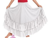 eurotard 08803c child double ruffle flamenco skirt