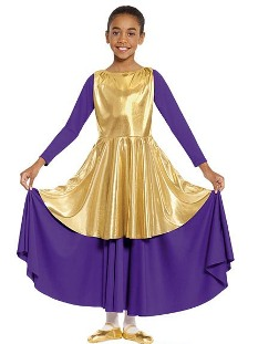 eurotard 14824c child metallic peplum tunic