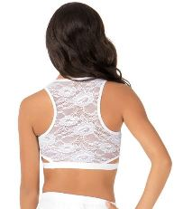 body wrappers lc9023 adult lace tank crop top