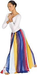eurotard 39808 multi color streamer skirt - overlay - top