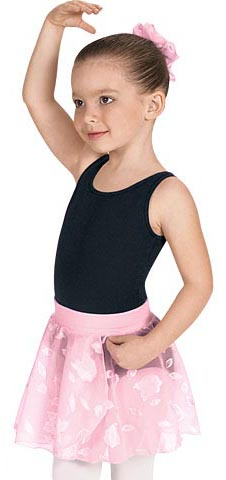 eurotard 01256 child mock wrap pull-on skirt,children dance skirt