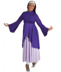 body wrappers 529 mock neck praise tunic