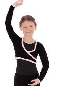eurotard 72510C long sleeve mock wrap sweater,eu 72510C,dance shrug
