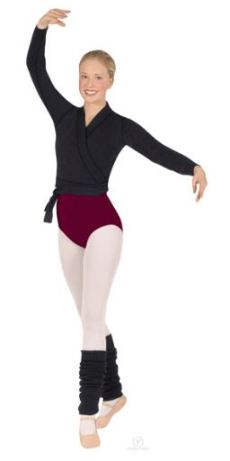 eurotard 72523a classic dance wrap sweater,dance wrap sweater