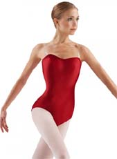leos ld135ls adult removable cup satin performance leotard